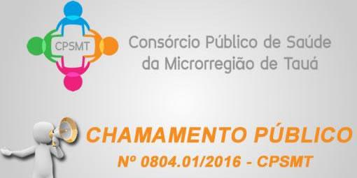 Chamamento Público N° 0804.01/2016 CPSMT